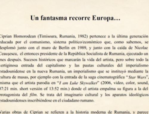 "MEJIA, Iván R., ""Un fantasma recorre Europa…"", Barcelona, Diciembre de 2013."